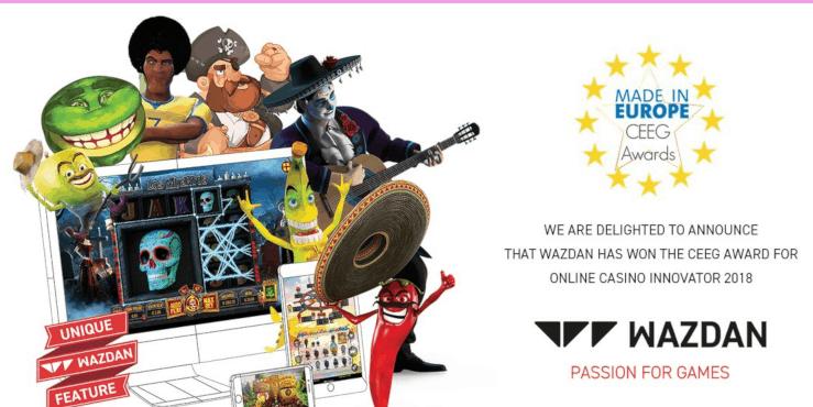 Wazdan giành được giải thưởng Nhà sáng tạo casino trực tuyến năm 2018