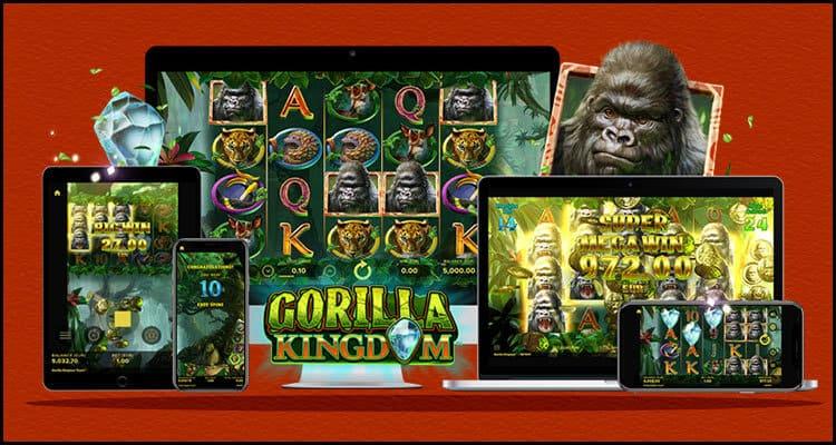 Giao diện máy đánh bạc video Gorilla Kingdom