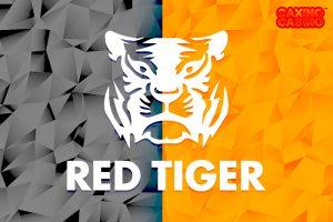Logo nhà sản xuất và cung cấp trò chơi sòng bạc trực tuyến Red Tiger